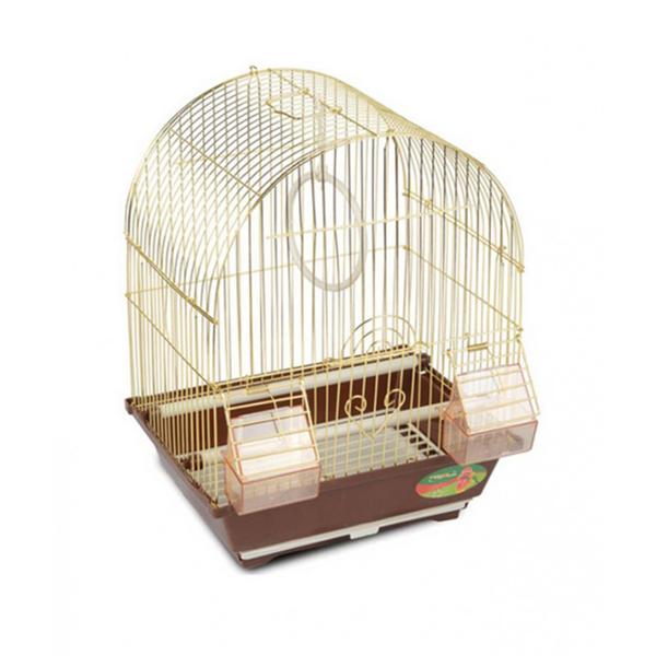 Клетка для птиц №2100А (золото) 30х23х39 TRIOL