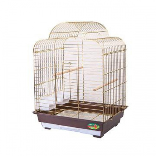 Клетка для птиц №6113G-K золото 46,5х36х65 см