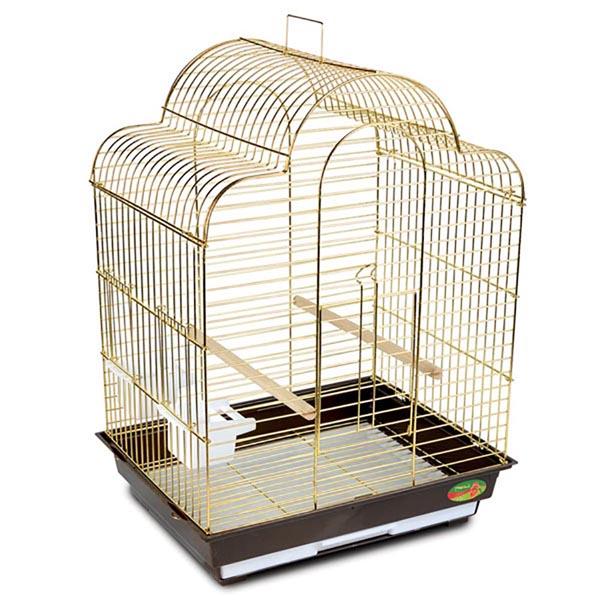 Клетка для птиц №1301(золото) 52х41х71 см