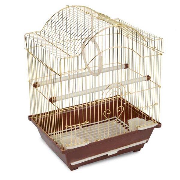Клетка для птиц №2113(золото) 30х23х39 см