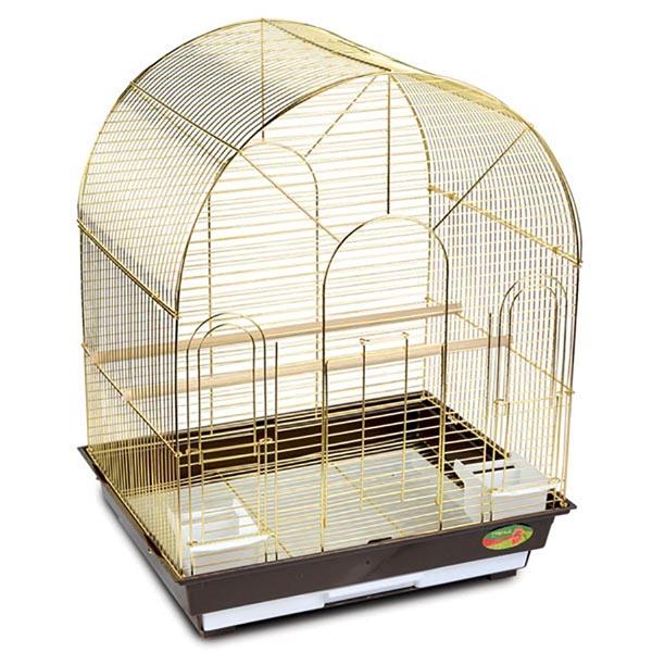 Клетка для птиц №1300(золото) 52х41х71 см