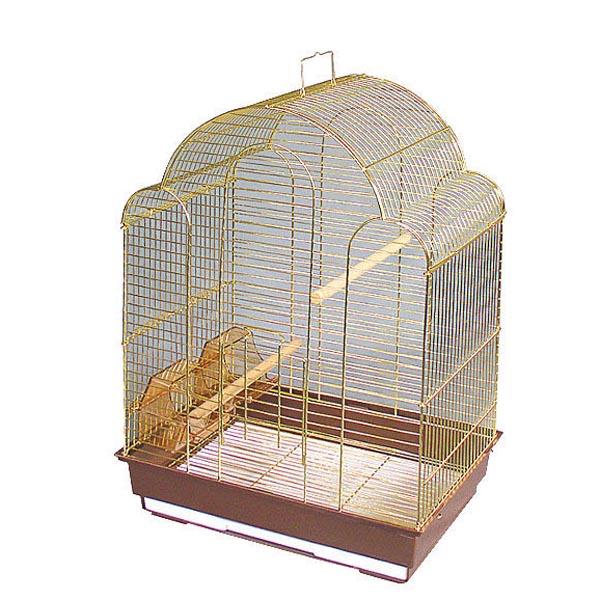 Клетка для птиц №9100 золото triol (триол) 42х30х56см