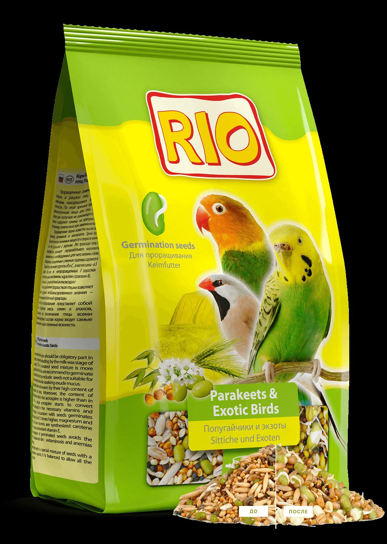 Корм для попугаев и экзотических птиц Рио для проращивания 500г