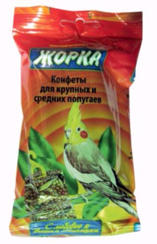 Лакомство для крупных и средних попугаев Конфеты ЖОРКА конфеты (2шт)