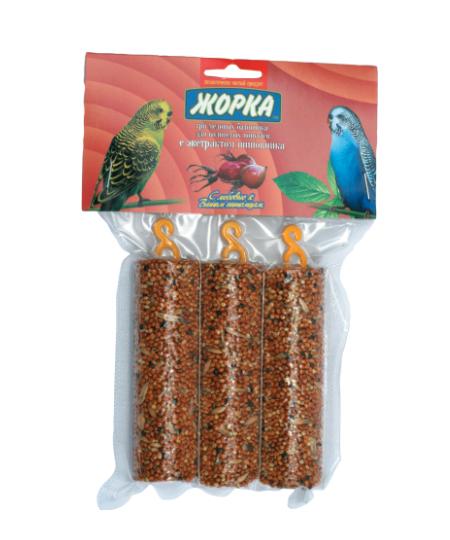 Лакомство для попугаев Медовые батончики ЖОРКА Шиповник (3шт)