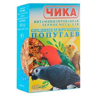 Корм для крупных и средних попугаев