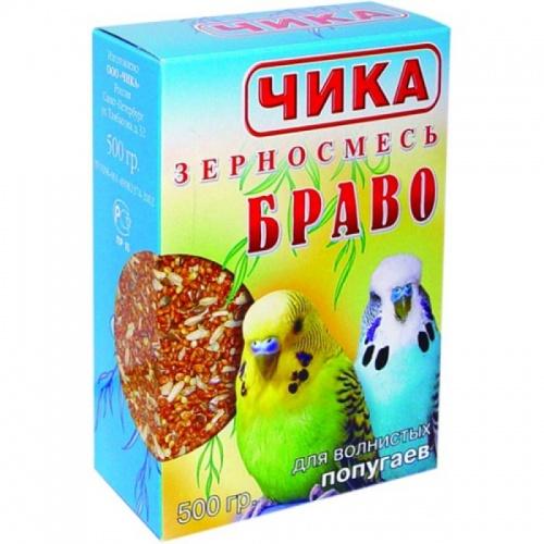 Корм для волнистых попугаев ЧИКА Браво 500г