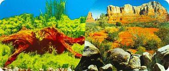 """Фон для аквариума """"Древесный ручей/Саванна"""" 0,6х1 м (15 м)"""