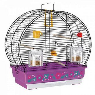 Клетка для птиц LUNA 2 DECOR черная 44,5 x 25 x h 45,5см