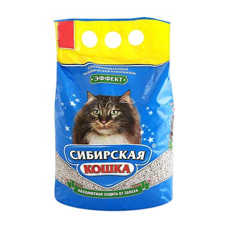 Наполнитель для кошачьего туалета Сибирская Кошка ЭФФЕКТ впитывающий