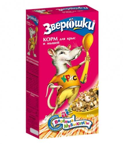 Корм для декоративных мышей и крыс ЗВЕРЮШКИ Зоомир 450г