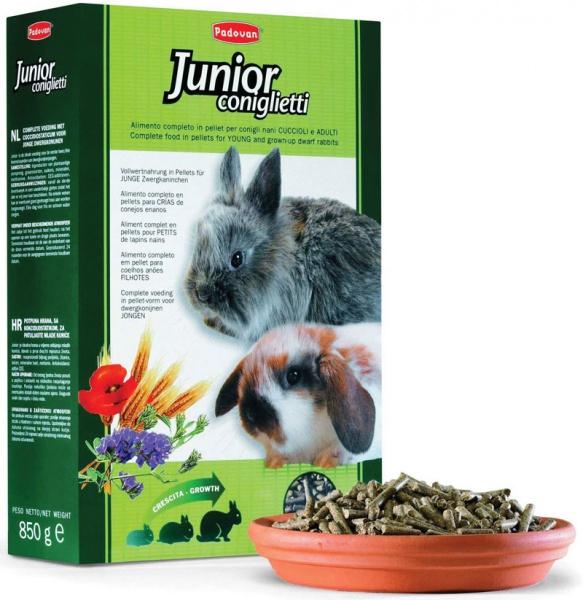 Корм для молодняка и кроликов основной Падован (Padovan) Джуниор 850г