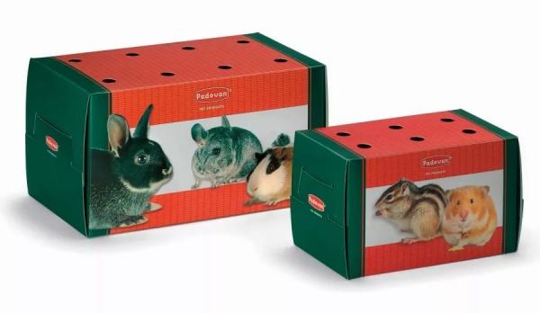 Переноска-картон для грызунов и птиц Падован