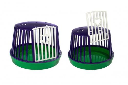 Переноска для грызунов пластиковая  круглая (н/комплект) Даррэл
