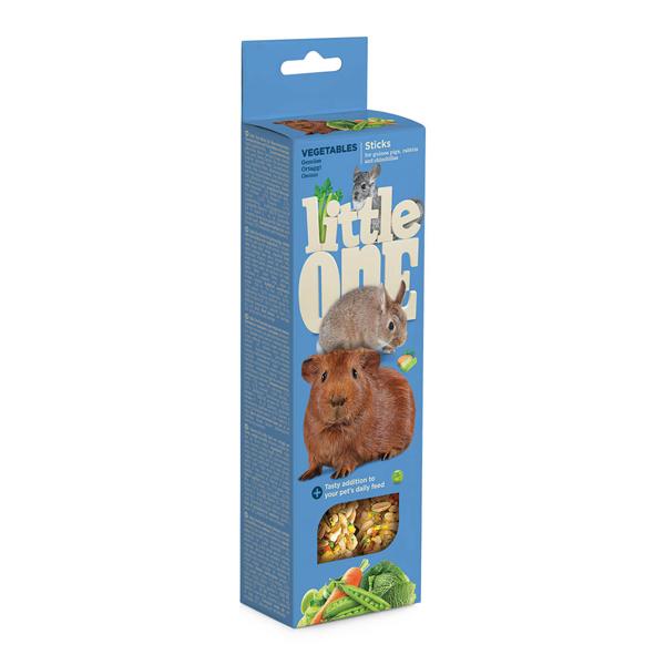 Лакомство для морских свинок, кроликов и шиншилл Палочки Литл Ван (LITTLE ONE) 120 гр
