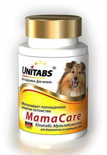 Витамины для беременных собак Юнитабс (Unitads) MamaCare с В9