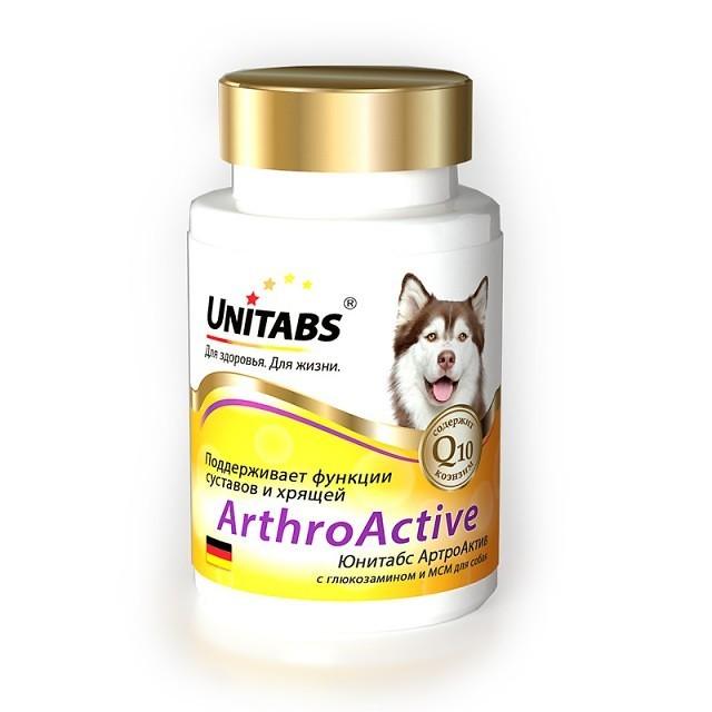 Ежедневные витамины для собак Юнитабс (Unitads) ArthroActive при болезни опорно-двигательного аппарата