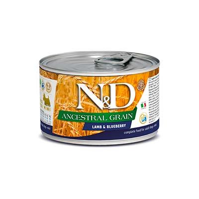 Влажный корм для собак Farmina N&D Низкозерновой, с ягненком и черникой, 140 гр