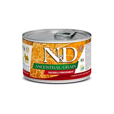 Влажный корм для собак мелких пород Farmina N&D Низкозерновой, с курицей и гранатом, 140 гр
