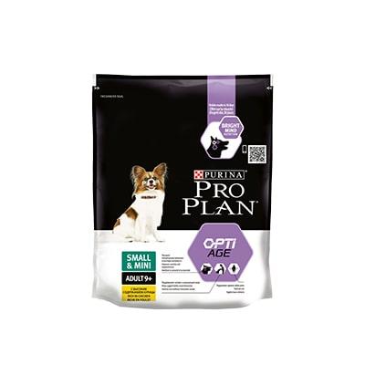 Сухой корм для взрослых собак с чувствительным пищеварением мелких пород ПроПлан (Pro Plan) курица и рис старше 9 лет