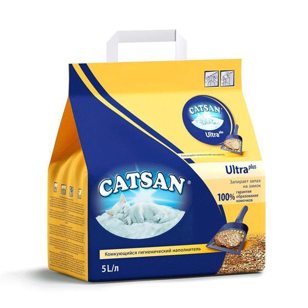 Наполнитель для кошечьего туалета Катсан (Catsan) Ультра комкующийся