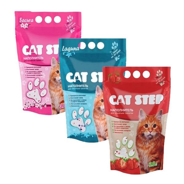 Наполнитель для кошачьего туалета Кэт Степ (Cat Step) Сакура силикагелевый