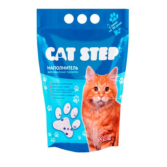 Наполнитель для кошачьего туалета Кэт Степ (Cat Step) силикагелевый