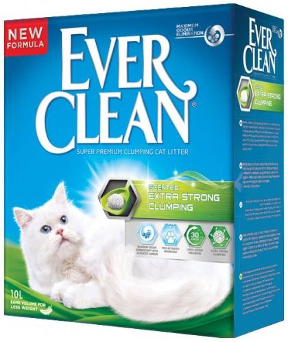 Наполнитель для кошачьего туалета Эвер Клин (Ever Clean) Extra Strong Clumping Scented с ароматизатором комкующийся