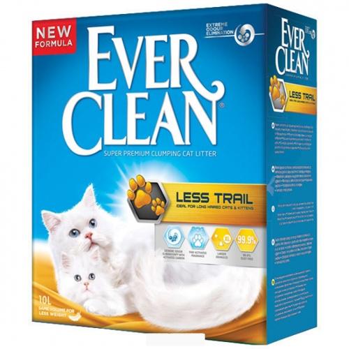 Наполнитель для кошачьего туалета Эвер Клин (Ever Clean) Less Treck без ароматизатора для длинношерстных кошек комкующийся