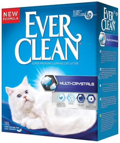 Наполнитель для кошачьего туалета Эвер Клин (Ever Clean) Multi-Crystals без ароматизатора с добавлением кристаллов комкующийся