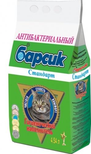 Наполнитель для кошачьего туалета БАРСИК Антибактериальный впитывающий