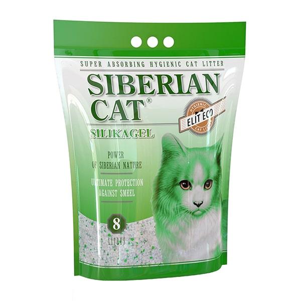 Наполнитель для кошачьего туалета Сибирская Кошка ЭЛИТА ЭКО силикагелевый