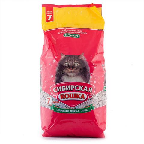 Наполнитель для кошачьего туалета Сибирская Кошка КОМФОРТ впитывающий