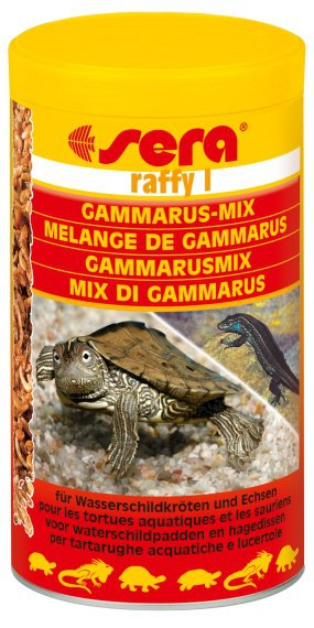 Корм для ящериц, сухопутных, водных черепах SERA Раффи 1 1000мл
