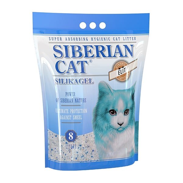 Наполнитель для кошачьего туалета Сибирская Кошка ЭЛИТА силикагелевый