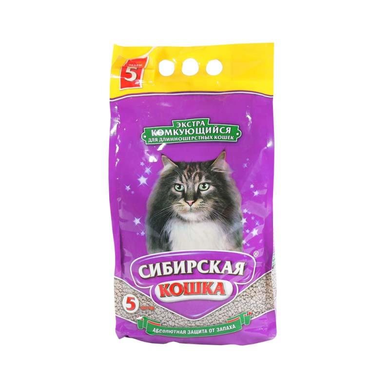 Наполнитель для кошачьего туалета Сибирская Кошка ЭКСТРА комкующийся