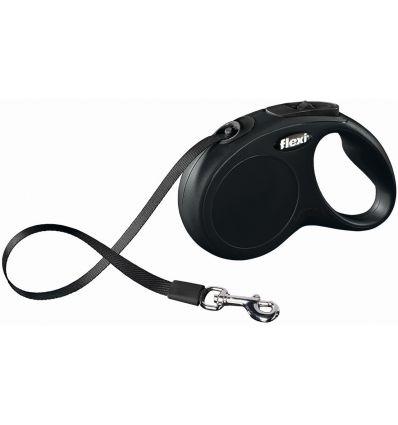 Рулетка ремень для собак Flexi (Флекси) New classic 5м до 25кг чёрный