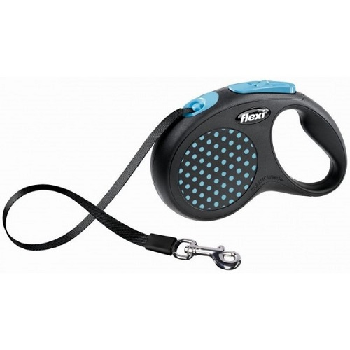 Рулетка ремень для собак Flexi (Флекси) Desing синий