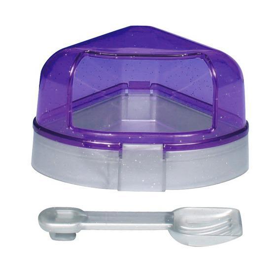 Угловой туалет для хомяка Трикси (Trixie) с крышкой и совком