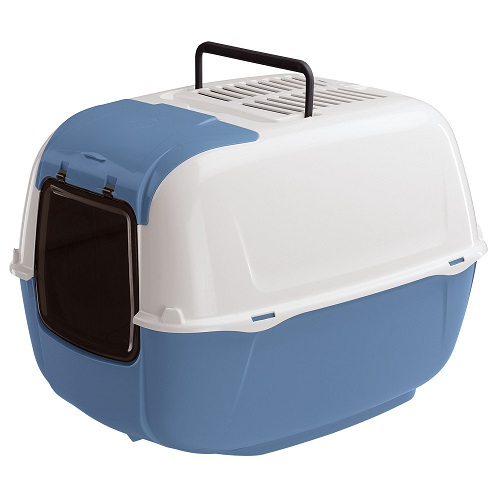 Туалет для кошек Ферпласт (Ferplast) Prima Cabrio закрытый с открывающимся люком