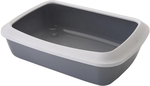 Туалет для кошек SAVIC Litter Tray с бортом серый
