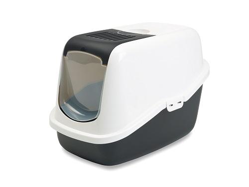 Туалет для кошек SAVIC Nestor белый/черный