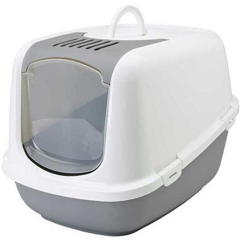 Туалет для кошек SAVIC Nestor Jumbo белый/светло-серый
