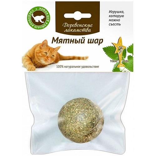 Лакомство для кошек Деревенские лакомства Мятный шар