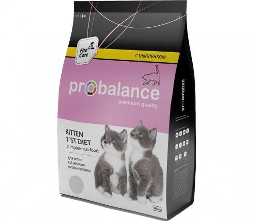 Сухой корм для котят ПроБаланс (ProBalance)Diet  цыпленок