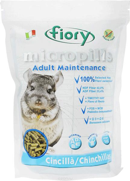 Корм для шиншилл ФИОРИ (Fiory) Mikropills
