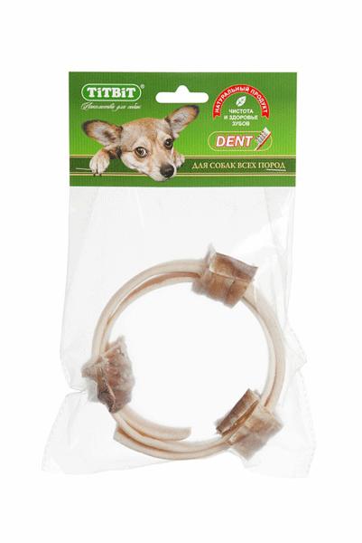 Лакомство для собак Колечки из кожи с трахеей Титбит (Titbit)
