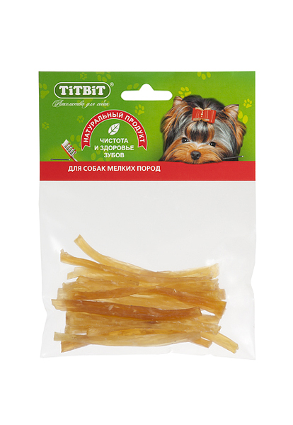 Лакомство для собак Сухожилия говяжьи Титбит (Titbit) Соломка