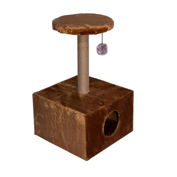 Домик-когтеточка Дарэлл 2 уровня, квадратный (сизаль)