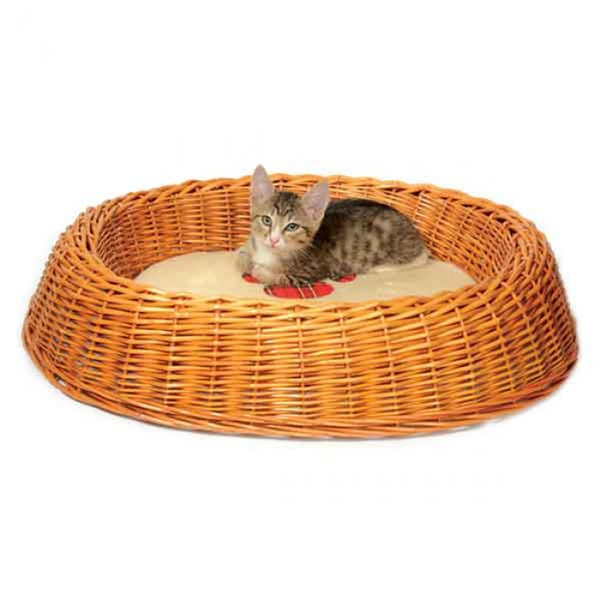 Лежанка плетеная Триол (TRIOL) круглая с подушкой